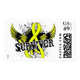 Survivor 16 Testicular Cancer Postage Stamp