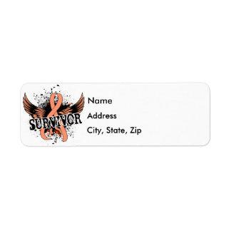 Survivor 16 Uterine Cancer Label