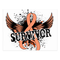 Survivor 16 Uterine Cancer Postcard