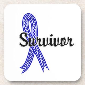 Survivor 17 Anal Cancer Drink Coaster