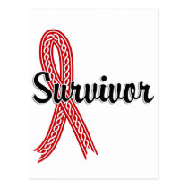 Survivor 17 Blood Cancer Postcard