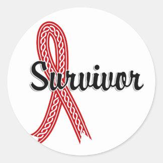 Survivor 17 Blood Cancer Round Sticker