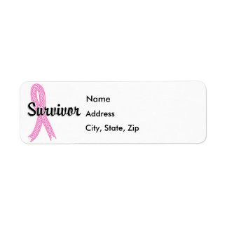 Survivor 17 Breast Cancer Label