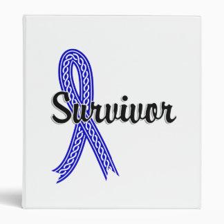 Survivor 17 Colon Cancer Vinyl Binder