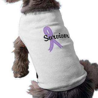 Survivor 17 Lymphoma Hodgkin s Doggie T-shirt