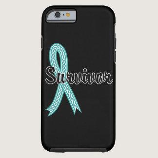 Survivor 17 Ovarian Cancer Tough iPhone 6 Case