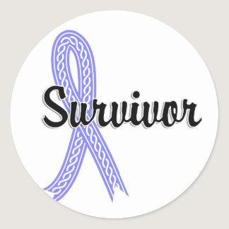 Survivor 17 Prostate Cancer Classic Round Sticker