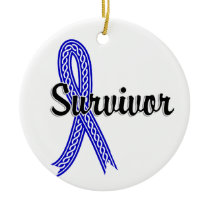 Survivor 17 Rectal Cancer Ceramic Ornament