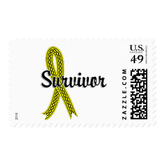 Survivor 17 Testicular Cancer Postage Stamp