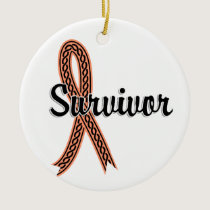 Survivor 17 Uterine Cancer Ceramic Ornament