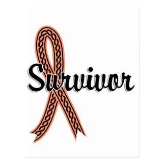 Survivor 17 Uterine Cancer Postcard