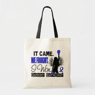 Survivor 22 Anal Cancer Budget Tote Bag
