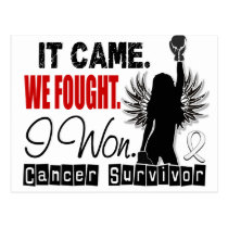 Survivor 22 Bone Cancer Postcard
