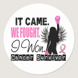 Survivor 22 Breast Cancer Classic Round Sticker