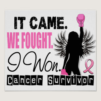Survivor 22 Breast Cancer Poster