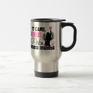 Survivor 22 Breast Cancer Travel Mug