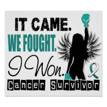 Survivor 22 Cervical Cancer Poster