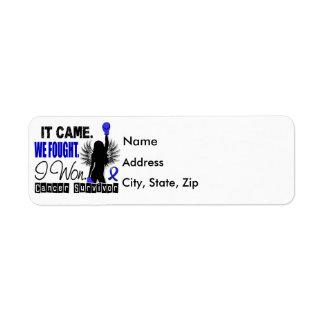 Survivor 22 Colon Cancer Label