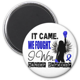 Survivor 22 Colon Cancer 2 Inch Round Magnet