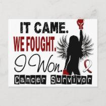 Survivor 22 Head And Neck Cancer Postcard