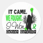 Survivor 22 Non-Hodgkin's Lymphoma Classic Round Sticker