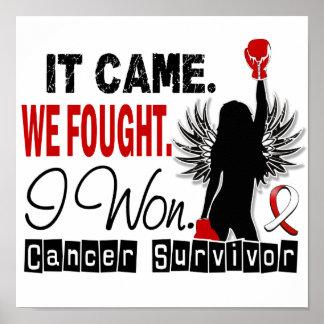 Survivor 22 Oral Cancer Poster
