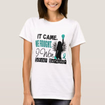 Survivor 22 Ovarian Cancer T-Shirt