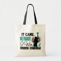 Survivor 22 Ovarian Cancer Tote Bag