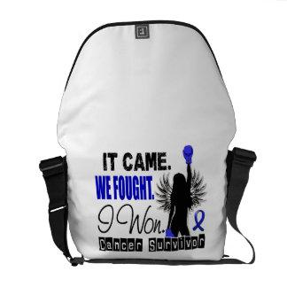 Survivor 22 Rectal Cancer Courier Bag