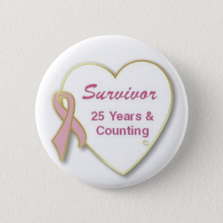 Survivor 25 years and Counting Button