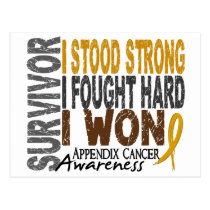 Survivor 4 Appendix Cancer Postcard