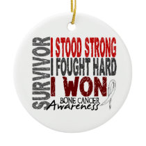 Survivor 4 Bone Cancer Ceramic Ornament