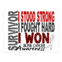 Survivor 4 Bone Cancer Postcard