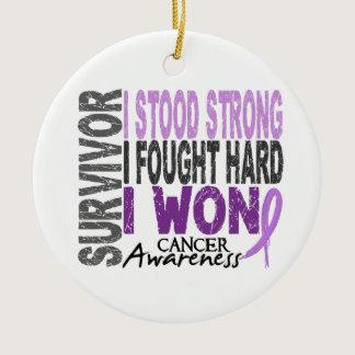 Survivor 4 Cancer Ceramic Ornament