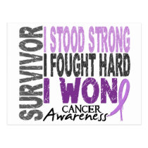 Survivor 4 Cancer Postcard