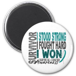 Survivor 4 Cervical Cancer 2 Inch Round Magnet