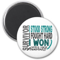 Survivor 4 Cervical Cancer Magnet
