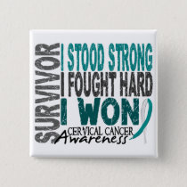 Survivor 4 Cervical Cancer Pinback Button