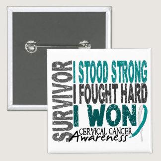 Survivor 4 Cervical Cancer Pinback Button