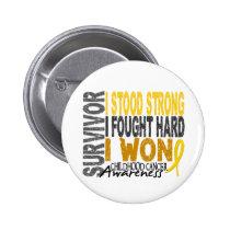 Survivor 4 Childhood Cancer Button