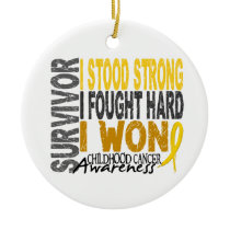 Survivor 4 Childhood Cancer Ceramic Ornament