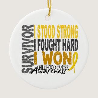 Survivor 4 Childhood Cancer Ceramic Ornament
