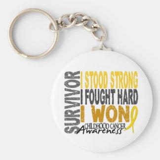 Survivor 4 Childhood Cancer Key Chain