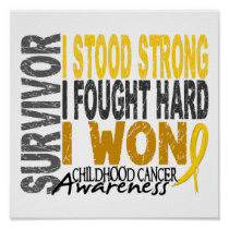 Survivor 4 Childhood Cancer Poster