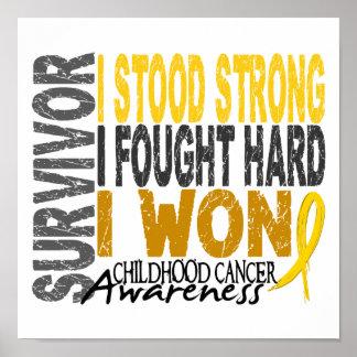 Survivor 4 Childhood Cancer Poster