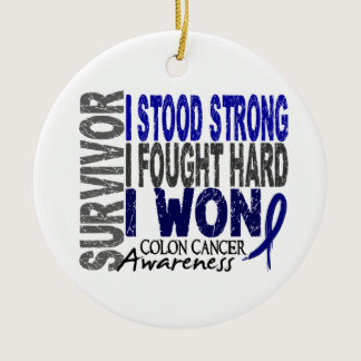 Survivor 4 Colon Cancer Ceramic Ornament