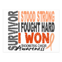 Survivor 4 Endometrial Cancer Postcard