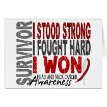 Survivor 4 Head Neck Cancer Card