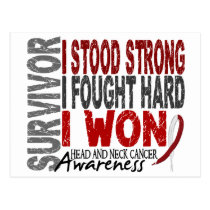 Survivor 4 Head Neck Cancer Postcard