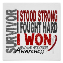 Survivor 4 Head Neck Cancer Poster